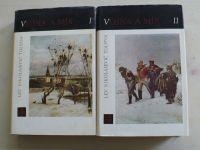 Tolstoj - Vojna a mír I.-II. (1969) 2 knihy