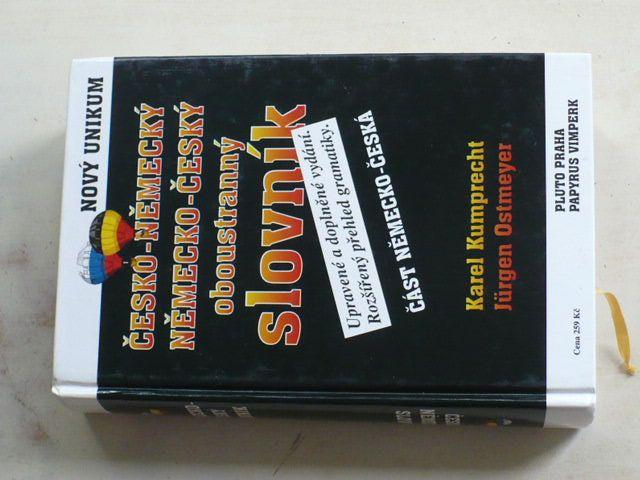 Kumprecht, Ostmeyer - Česko - německý, německo - český oboustranný slovník (1997) Upravené a doplněné vydání. Rozšířený přehled gramatiky