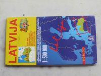 Automapa 1 : 500 000 Latvija (Lotyšsko) (1999)