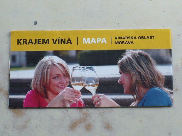 Mapa 1 : 260 000 - Krajem vína - vinařská oblast Morava (2013)