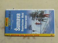 Zimní turistická a lyžařská mapa 1 : 75 000 - Šumava - Bayerischer Wald, Bohmerwald (2001)