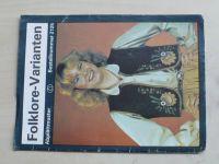Folklore-Varianten 2125 (německy)