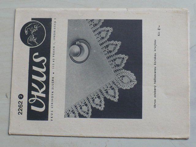 Vkus 2262 - Ubrus zdobený háčkovanou širokou krajkou (nedatováno)