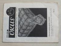 Vkus 2356 - Čtvercová háčkovaná pokrývka z hvězdiček (nedatováno)
