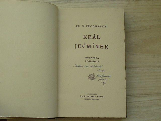 Fr. S. Procházka - Král Ječmínek - Moravská pohádka (Vilímek 1906)