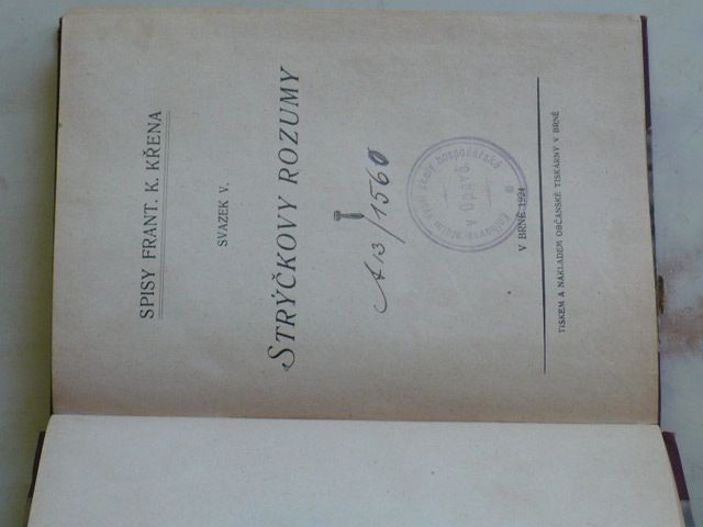 Křen - Strýčkovy rozumy (1924)