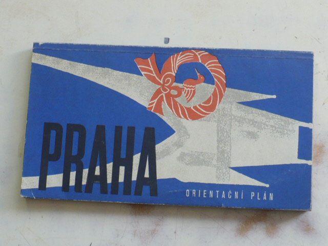 Orientační plán - 1 : 15 000 - Praha (1965) mapa + informativní část