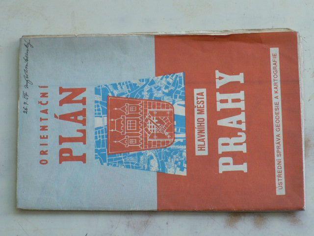 Orientační plán hlavního města Prahy 1 : 15 000 (1957)