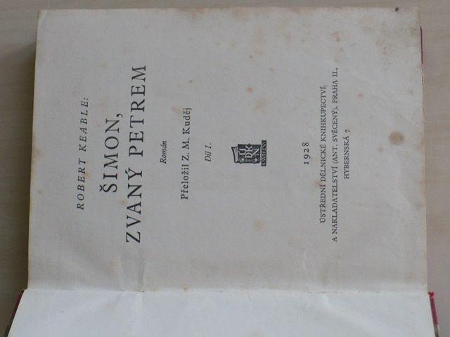 Keable - Šimon, zvaný Petrem (1928)
