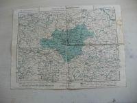 Mapa 1 : 200 000 - Politický okres Olomoucký - nakreslil V. Plesinger, učitel v Budyni n, Ohří