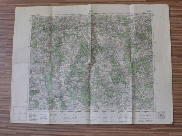 Mapa 4253 - 1 : 75 000 - Tábor (1933)
