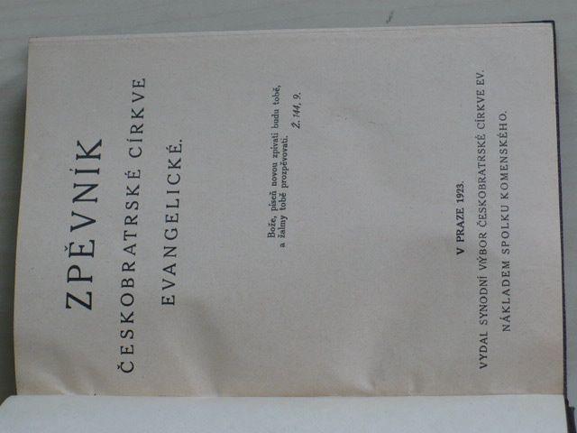 Zpěvník Českobratrské církve evangelické (1923)