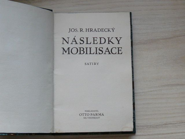 Hradecký - Následky mobilisace - Satiry (1915)