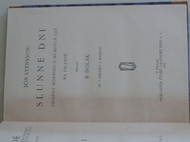 Svensson - Slunné dni (1922) Příběhy Nonniho z mladých let na Islandě