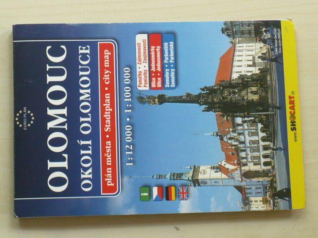 Plán města - Olomouc 1 : 12 000 - okolí Olomouce 1 : 100 000 (2010)
