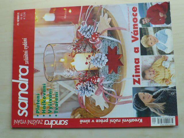Sandra - zvláštní vydání 4 - Zima a vánoce - Pletení, háčkování, vyšívání, tvoření (2011)