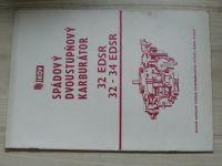 Jikov - Spádový dvoustupňový karburátor 32 EDSR, 32 - 34 EDSR