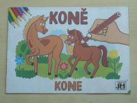 Koně (nedatováno) omalovánky