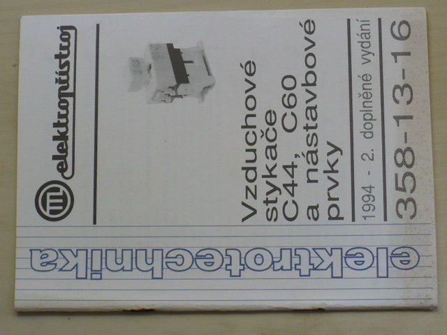 Vzduchové stykače C44, C60 a nástavbové prvky (nedatováno)
