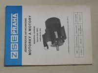 Jednofázové asynchronní motorky a motory - Nakrátko, zavřené - Řady 4APC - Velikost 63-90 (1988)
