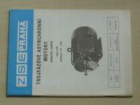Trojfázové asynchronní motory - Nakrátko, zavřené - Řady 4 AP - Velikost 112-132 (1988)