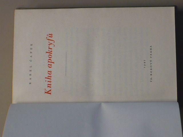 Čapek - Kniha apokryfů (1945)