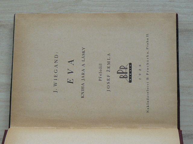 Wiegand - Eva - kniha jara a lásky (1926)