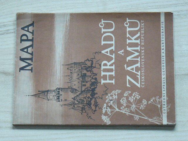Mapa hradů a zámků Československé republiky 1 : 750 000 (1957)