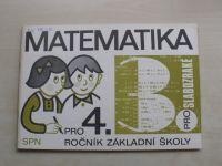 Matematika pro 4. ročník základní školy pro slabozraké III. díl (1982)