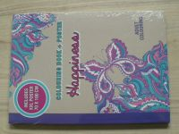 Colouring book + Poster - Happiness - Includes XXL poster 70 X 100 cm - omalovánky pro dospělé