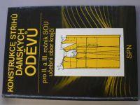 Konstrukce střihů dámských oděvů pro II. a III. ročník SOU učební obor krejčí (1990)
