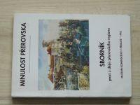 Minulost Přerovska 1993 - Sborník prací z dějin přerovského regionu