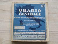 Orario Generale Ufficiale per le ferrovie Italiane dello stato (1973) - Italský vlakový JŘ