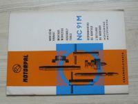 Montážní nářadí NC 91 M - Motorpal Jihlava, vícejazyčný text