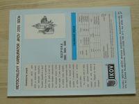 Motocyklový karburátor Jikov 2926 SBDb - Prospekt