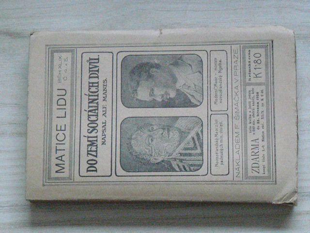 Alfred Manes - Do zemí sociálních divů (1915) Studijní cesta do Japanu a Jižním mořem do Austrálie a