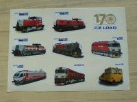 CZ LOKO - samolepky lokomotiv, formát A4