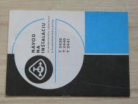 Návod na inštaláciu plavákových ventilov z plastických latok T2439, T2440, T2441
