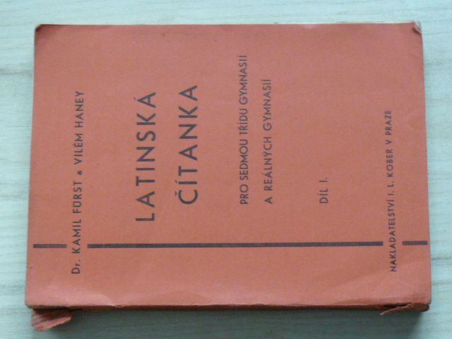 Rürst, Haney - Latinská čítanka pro sedmou třídu gymnasií a reálných g. Díl I. (Kober 1936)