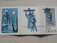 VIA CRUCIS - Křížová cesta, 15 pohlednic 1984 (Stádník, Radvan, Olomouc)