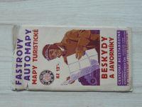 Fastrovy automapy, mapy turistické 1 : 150 000 - Moravskoslezské Beskydy a Ostravsko (1938)