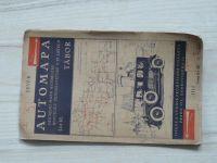 Oficiální mapa autoklubu republiky Československé list 10. - Automapa 1 : 200 000 - Tábor (1925)