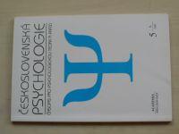 Československá psychologie 5 (časopis pro psychologickou teorii a praxi, ročník IL) (2005)