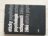 Otázky psychologie schopností žáků (1968) red. Krutěckij