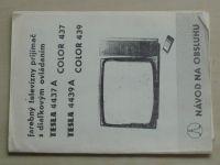 Farebný televízny prijímač s dialkovým ovládáním - TESLA 4437 A Color 437/TESLA 4439 A Color 439