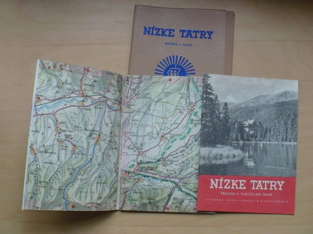 Nízké Tatry 1:75000 mapa. příloha, plast.složka (1960)
