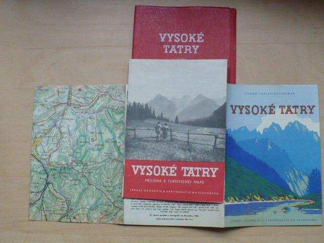 Vysoké Tatry 1:75000 mapa. příloha, plast.složka (1960)