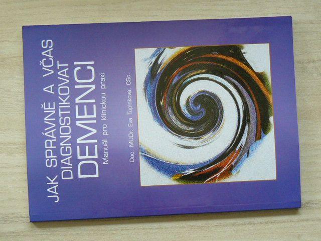 MUDr. Topinková - Jak správně a včas diagnostikovat demenci (1999) Manuál pro klinickou praxi