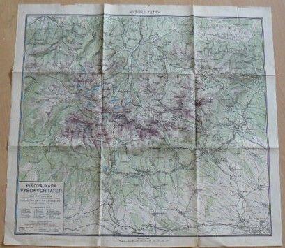 Píšova mapa Vysokých tater 1 : 50 000