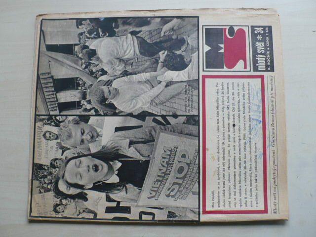 Mladý svět 34 (1968) ročník X.
